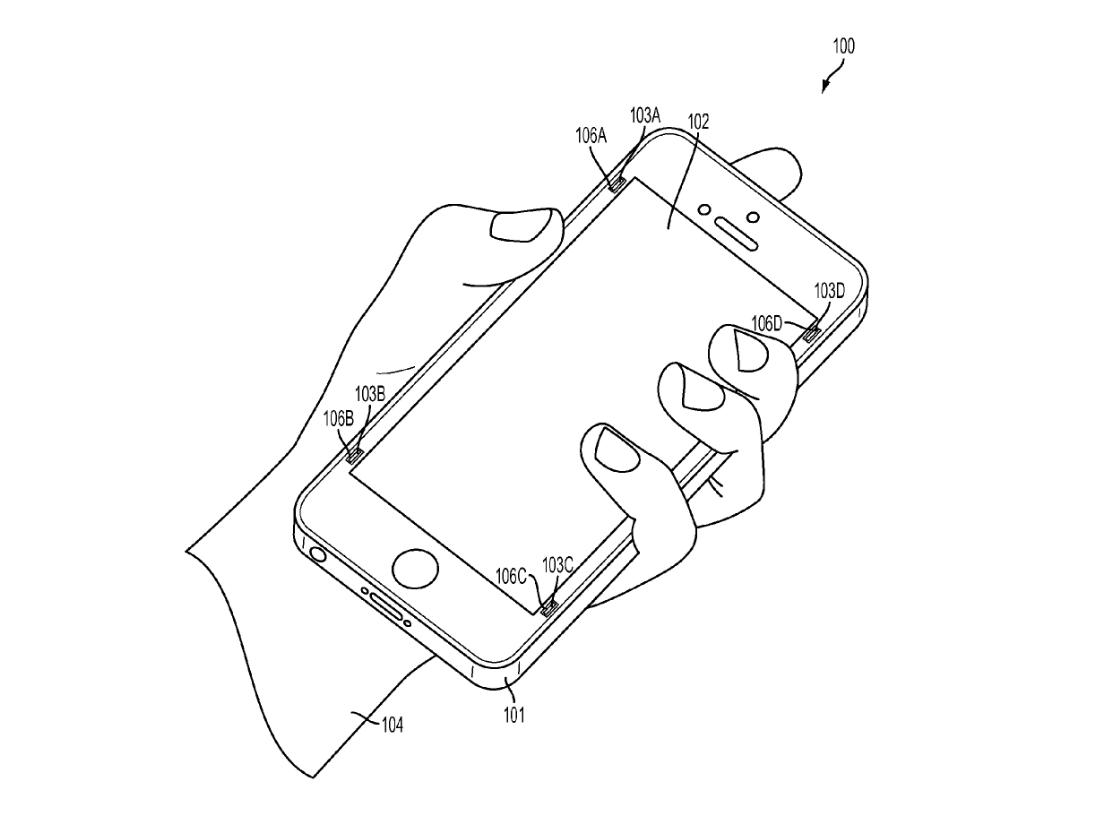 """Patente mostra """"para-choque"""" retrátil para iPhone"""