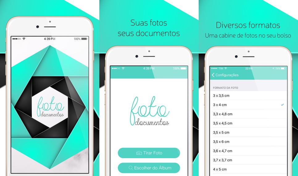 Foto Documentos para fotos 3x4 e 5x7 no iOS